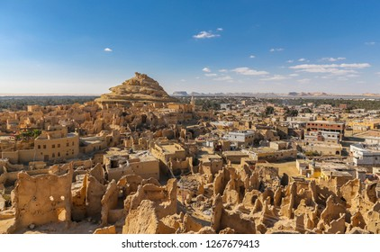 Siwa oasis in Egypt. Shali Fortress ruins in old town