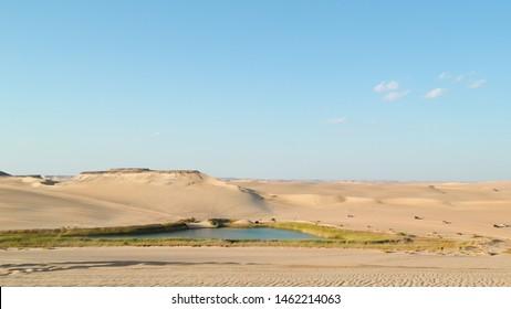 Siwa oasis in the middle of Siwa desert