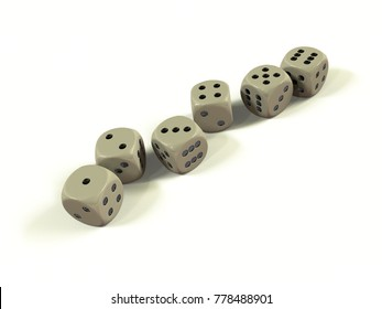 Six dices in a row, come with in a great coincidence