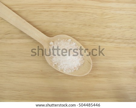 Six Grams Of Salt Per Day On A Wooden Spoon