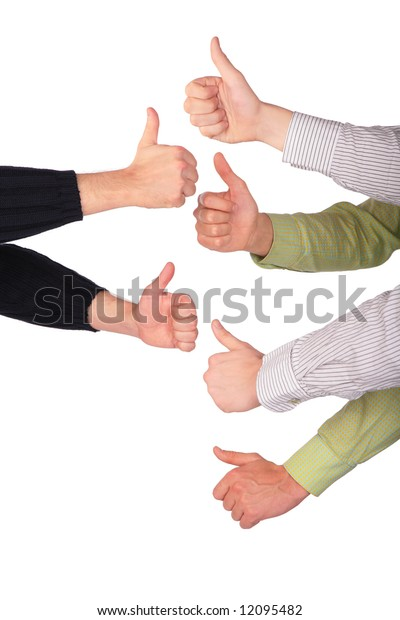 six hands gives gesture