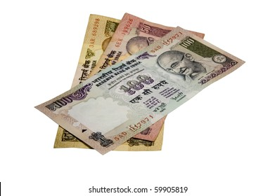 Six hundred fifty Indian Rupees (INR) (Re) in banknotes on a white background.