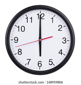 Six o'clock on the dial round clock