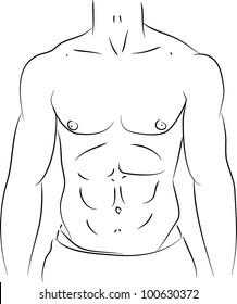 Six pack illustration