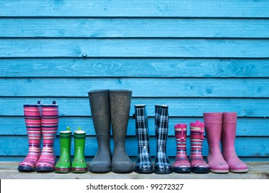 six rubber boots/gardening/boots