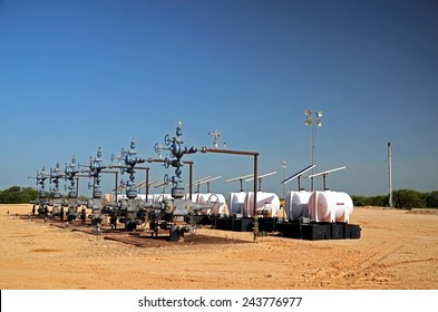Six well is in operation with wellheads and collection system.