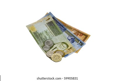 Sixteen Jordanian Dinar (JOD) and change on a white background.
