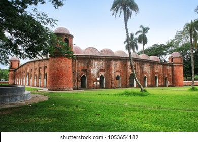 The Sixty Dome Mosque or Shaá¹­ Gombuj Moshjid also known as Shait Gambuj Mosque or Saith Gunbad Masjid, a UNESCO World Heritage site. Bagerhat.