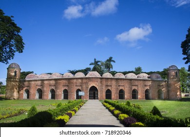 The Sixty Dome Mosque or Shaá Gombuj Moshjid also known as Shait Gambuj Mosque or Saith Gunbad Masjid, a UNESCO World Heritage site. Bagerhat.