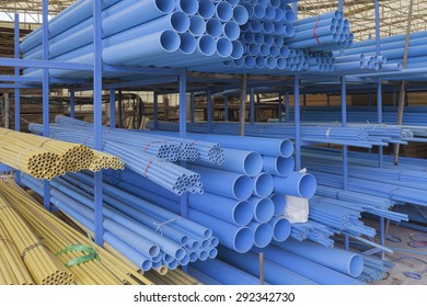 Size of pvc pipes in Materials Warehouse.
