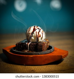 sizzling With Ice cream topping