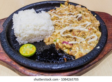 Sizzling sisig, typical meal of Philippines