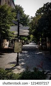 Skadarlija Street in the city of Belgrade