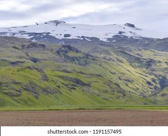 Skaftafel, Iceland / Iceland - August 2018: Glacier by Skaftafel in Iceland