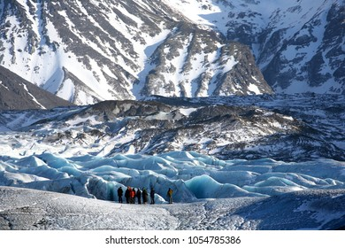 Skaftafell Glacier Hiking is one of the must activities in Iceland. The glacier Svínafellsjökull is located in Skaftafell, the highest mountain range in Iceland.