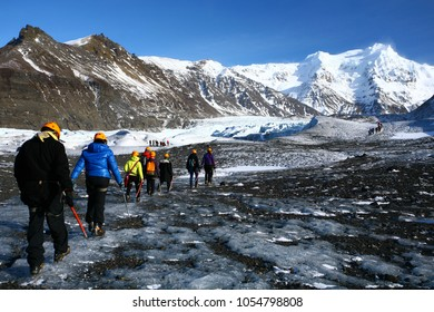 Skaftafell Glacier Hiking is one of a must activities in Iceland. The glacier Svínafellsjökull is located in Skaftafell, the highest mountain range in Iceland.