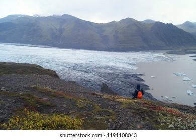 Skaftafell, glacier, Vatnajokull, National, Park, Iceland