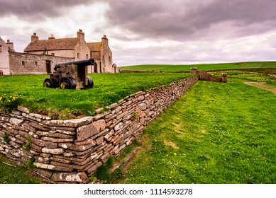 Skaill House is a historic manor house of the Orkney Islands. The house overlooks the neolithic site, Skara Brae. Scotland, UK