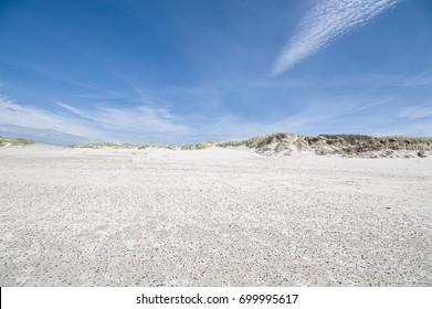 Skallingen beach, in South Jutland, Denmark