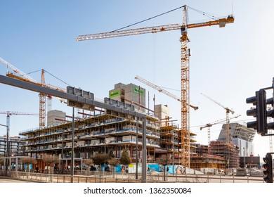 Skansa UK Construction site, Oslo,Norway,07/06/2018