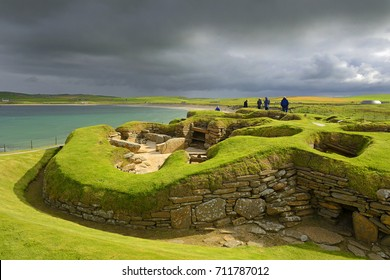 Skara Brae was inhabited for several centuries – Part of the Heart of Neolithic Orkney – UNESCO World Heritage Site, Scotland UK