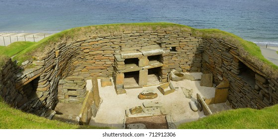 Skara Brae was inhabited for several centuries – Part of the Heart of Neolithic Orkney – UNESCO World Heritage Site, Scotland, UK