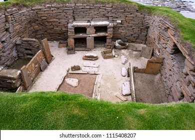 Skara Brae - Scottish prehistoric site in Orkney, Part of the Heart of Neolithic Orkney – UNESCO World Heritage Site, Scotland, UK