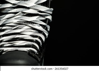 Skate laces tied up
