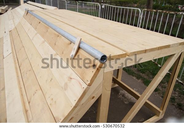 Skate Ramp Assemblyinstallation Process Outdoorsbuilding