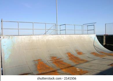 A skate ramp, Penzance, Cornwall, UK.