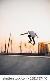Skate, Skater, Sunset skater ramp skateboarding summer sunset skates