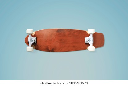 Skateboard, patineta clásica de arce con ruedas blancas