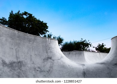 Skateboard Combi Bowl sunset and nature