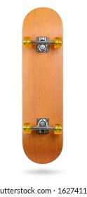 Skateboard deck isolated on white background. File contains a path to isolation.