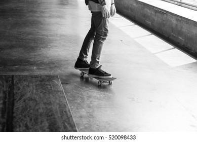 Skateboard Extreme Sport Skater Park Recreational Activity Concept