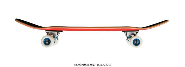 Skateboard isolated on white background. Extreme sport equipment