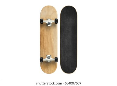 Skateboard isolated on white background
