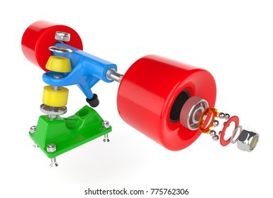 Skateboard truck assembly