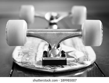 Skateboard upside down