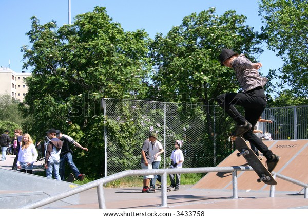 Skateboarder at Kista Open in Sweden