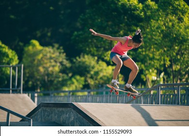 skateboarder skateboarding on skatepark ramp