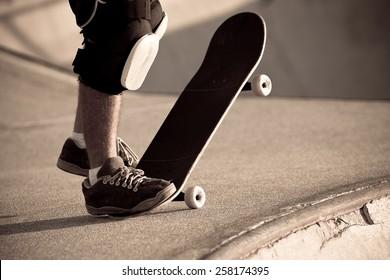 Skater in a skate park