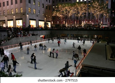 Skating in Rockefeller Center, NYC