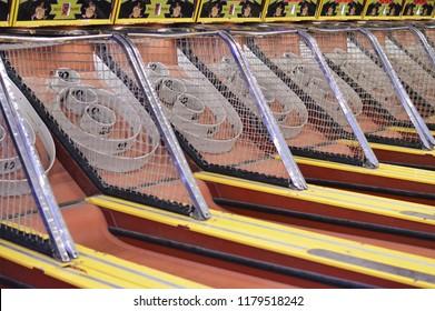 Skee Ball Arcade Game Amusement Park Background
