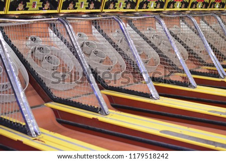 Skee Ball Arcade Game Amusement Park Stock Photo (Edit Now