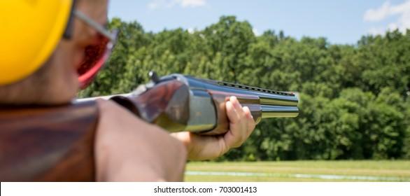 Skeet Shooting Images Stock Photos Vectors Shutterstock