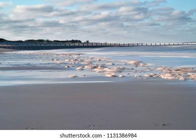 Skegness beach long exspoure