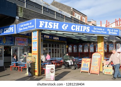 Skegness,Lincolnshire,UK. December 20th 2015.The English east coast seaside resort of Skegness almost deserted during the Winter closed season.