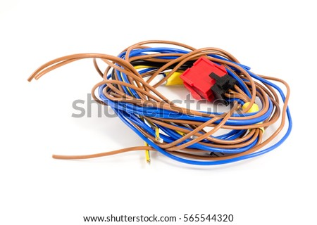 on blue cable wires, blue wires wires, blue rocker arms, blue engine, blue coolant, blue globe wires,