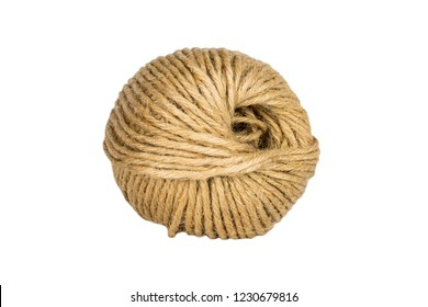 Skein of rope isolated on white background.